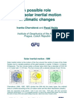 Char Vat Ova, Hejda Aug08 - A Possible Role of the Solar Inertial Motion in Climatic Changes