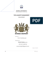 Murree Brewery (TQM) Total Quantity Management Final Report
