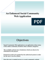 Social Community Website 0th Review