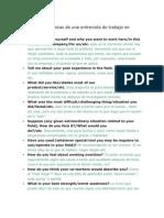 12 preguntas típicas de una entrevista de trabajo en inglés