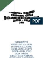 Programacin Matem. 2011 Tercer Periodo