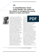 Editorial Global Competitiveness Versus Community Identity