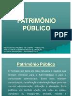 PATRIMÔNIO PÚBLICO ORIENTAÇOES