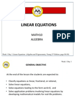 Week 1 -2 Linear Equations (2)