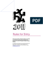 PGDA 2011 Rules for Entry