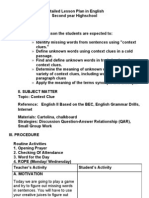 Detailed Lesson Plan in English.contextclues