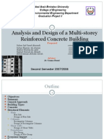 Analysis and Design of a Multi-Storey Reinforced Concrete