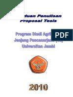 Panduan Penulisan Proposal Tesis 2010