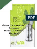 MEMORIA Voz Natura. Abril 2007