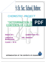 Chemistry Project XI