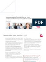 Top Employers HR Best Practices Report 2011