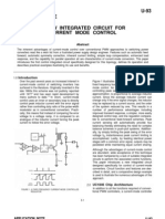 U-93 Application NOTE a New Integrated Circuit for Current Mode Control