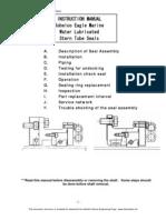 2007 Kobelco Stern Tube Seal Installation Manual