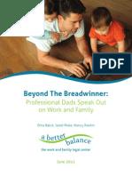 A Better Balance Report - Beyond the Breadwinner