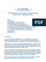 CABRE'_La Terminologia Tra Lessicologia e Documentazione