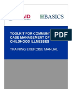 CCM Toolkit Training Exercise Manual