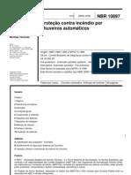 NBR-10897 - 2004 - Proteção Contra Incêndio por Chuveiro Automático