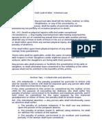 Civil Law Assignmen -Criminal Law Section