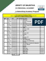 Student Time Table CCNA E3 V3