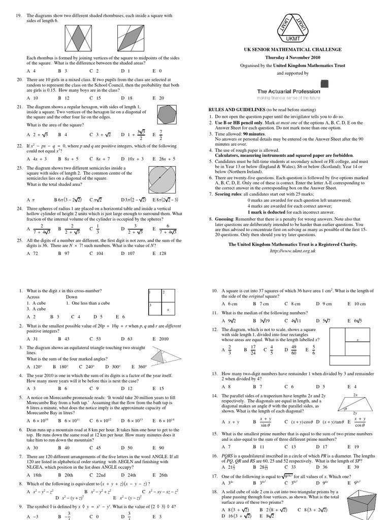 2010 senior prob elementary mathematics elementary geometry biocorpaavc Image collections