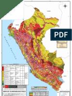 Mapa de Vulnerabilidad Fisica del Peru