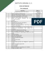 Lista de Materiales 2011-2012