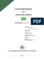 Internship Report MCB