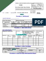 E-Tag C TEW PTD Molding Process Traveler