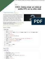 Cómo crear un reloj al estilo HTC en tu sitio web - elWebmaster