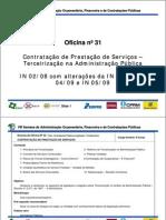 Oficina 31 Contratacao de Prestacao de Servicos