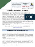 Informe do Comando Nacional de Greve (18.jul.2011)