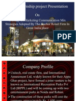 A Study of Marketing Communication Mix Strategies Adopted by the Anchor Retail Firm in Great India Place