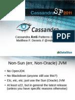 Cassandra Anti-Patterns (in 5m)