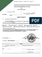 Aaron Swartz arrest warrant