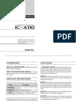 ICA110 Manual Instrucciones