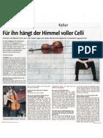 Kreiszeitung Böblinger Bote 30. April 2011 / Cello Akademie Rutesheiim