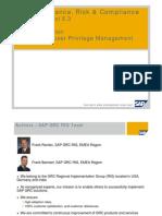 SAP Governance, Risk & Compliance Access Control 5.3 - Post-Installation - SPM