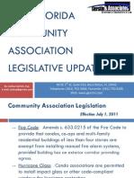 2011 Florida Community Association Legislative Update