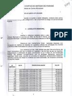 Do TC, sobre contas de 2000 da Câmara de Curitiba