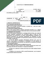 Contract Prestari Servicii Model Simplu