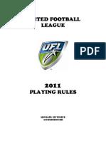 2011 Ufl Rulebook