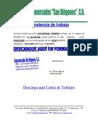 Formato Carta Trabajo Empleada Domestica