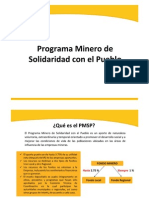 Aporte Voluntario - Programa Minero de Solidaridad con el Pueblo