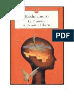Krishnamurti - La première et dernière liberté