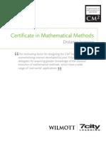 Maths Methods