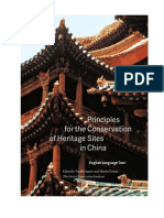 Priniciples of Conservation at China