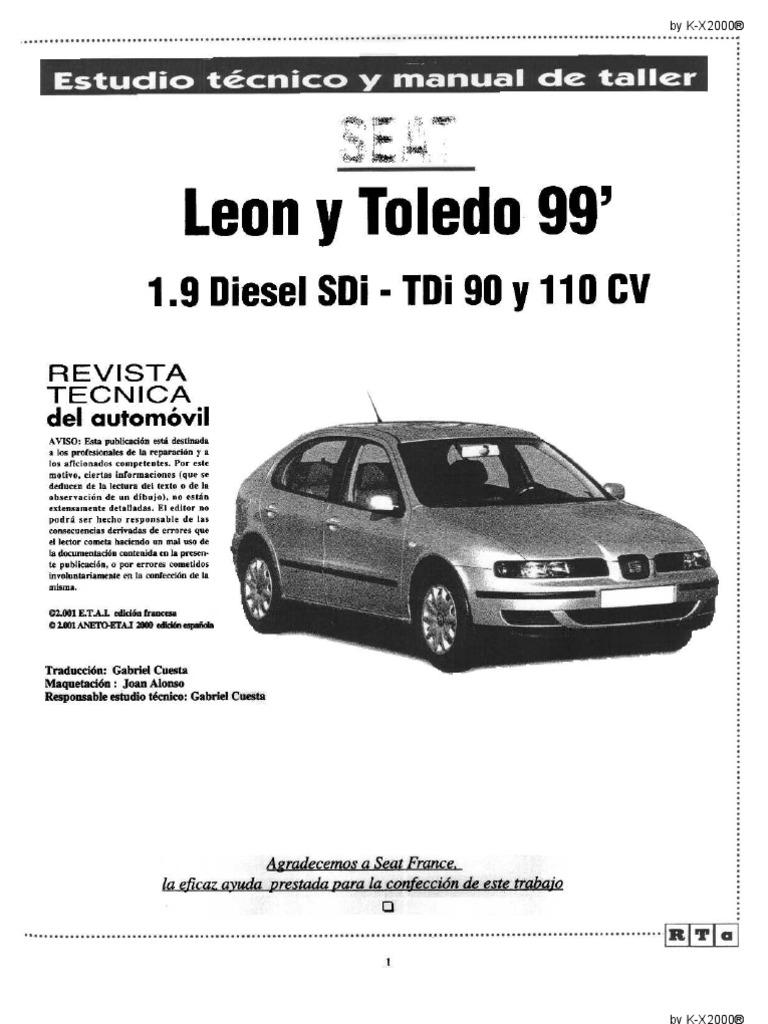manual de taller seat leon toledo rh scribd com manual service seat leon 1m manual service seat leon 1m