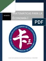 Apuntes de Matemáticas para la Economía I