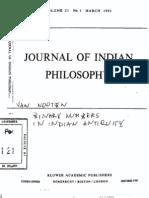 Van Nooten, Binary Numbers in Indian Antiquity