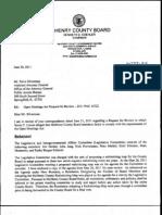 OMA - McHenry County Board - Koehler Response